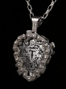 Image of Standard Pick in Guitar Pick Holder Pendant.